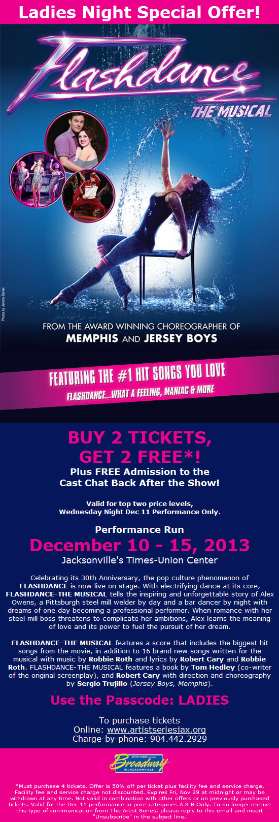 Save on Tickets to Flashdance - The Musical!
